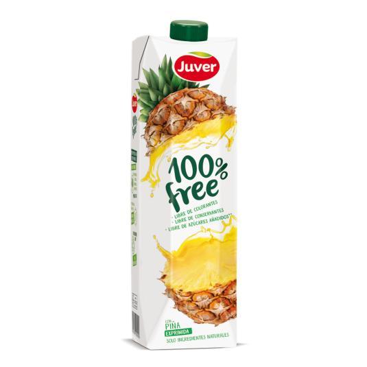ZUMO JUVER 100% FREE PIÑA 1 L