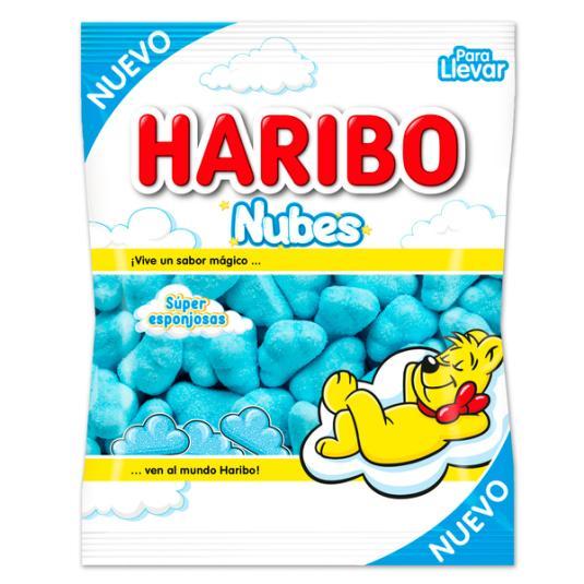 NUBES ESPONJITAS HARIBO 80 GR