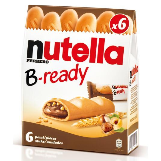 BARRITAS B-READY NUTELLA 6 UDES