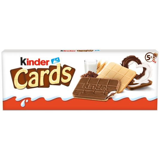 GALLETA R/CACAO KINDER CARDS 10UDES