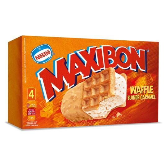 MAXIBON WAFFLE 4X140ML