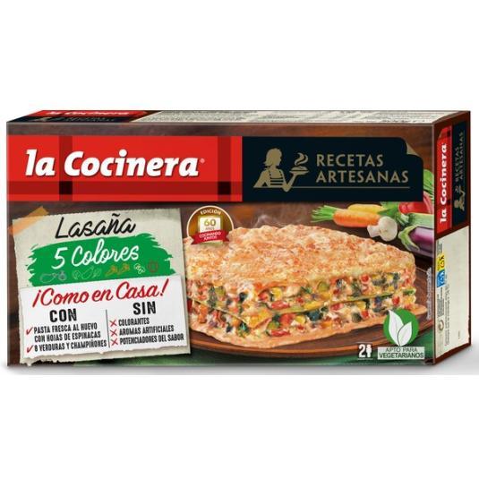 LASAÑA 5 COLORES LA COCINERA 500 GR