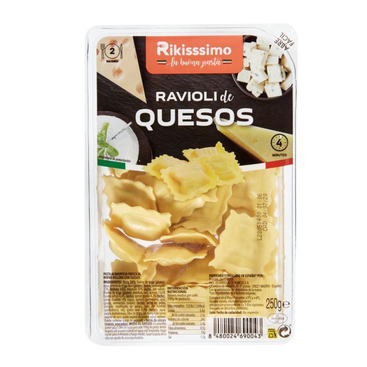 RAVIOLI 4 QUESOS RIKISSSIMO  250 GR